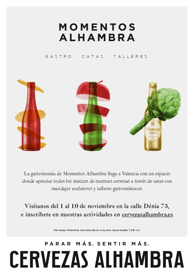 """""""Momentos Alhambra Gastro"""" llega a Valencia con talleres gastronómicos, catas y degustaciones"""