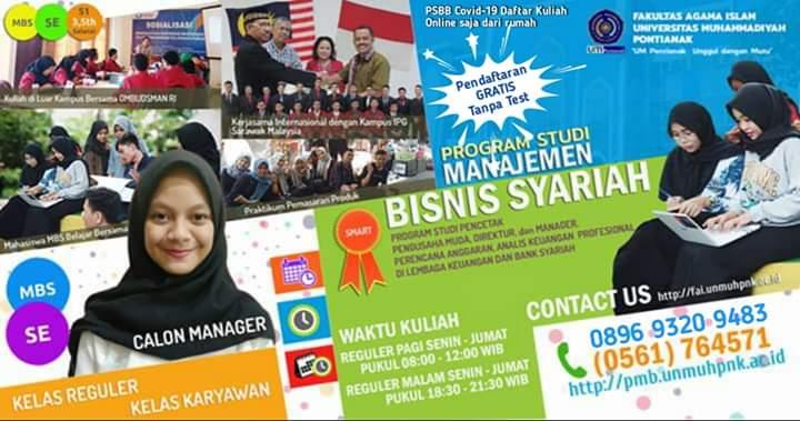 Penerimaan Mahasiswa Baru Prodi Manajemen Bisnis Syariah Um Pontianak