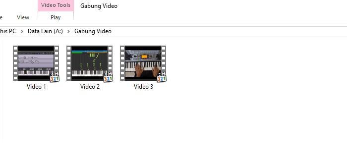 Folder video movie maker