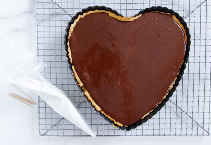 chocolate bakewell tart