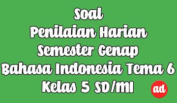 PENILAIAN HARIAN BAHASA INDONESIA TEMA 6 KELAS 5 SD/MI