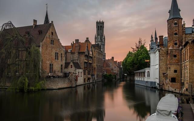 Cidadede Bruges na Bélgica