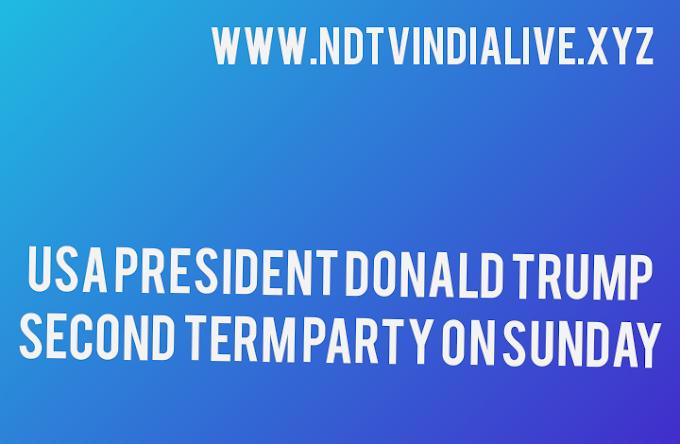 USA President Donald Trump second term party on Sunday