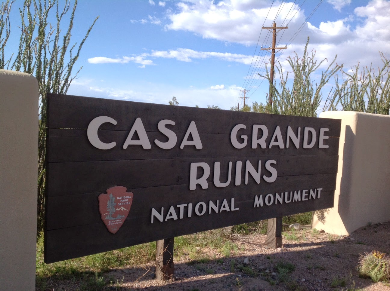 Entrance Sign to Casa Grande Ruin
