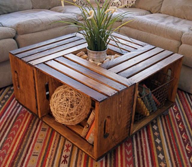 Recycler pour décorer table basse