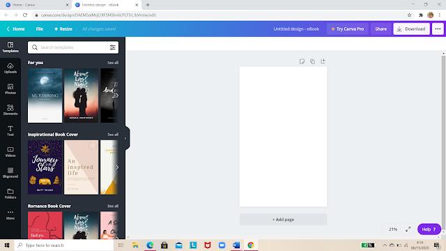 cara membuat e book dengan canva