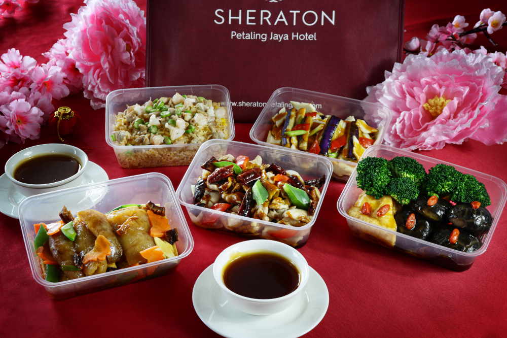 sheraton petaling jaya hotel: lunar new year dine-at-home sets & hampers
