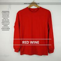 Kaos Polos Lengan Panjang Naga Clothing 100% Cotton Combed 30s Reaktif (Ukuran S, M, L dan XL)