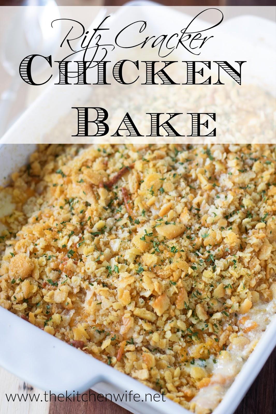 Ritz Cracker Chicken Bake Recipe The Kitchen Wife