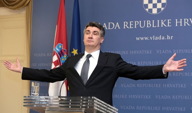 Croatian Prime - Zoran Milanovic - teases Macedonia, Serbia and Greece: these countries are not states!