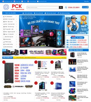 Mẫu website máy tính, điện máy