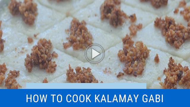 Filipino delicacy composed of coconut milk, gabi or taro, and glutinous rice flour. It is often served as a dessert or snack just like other kakanin.