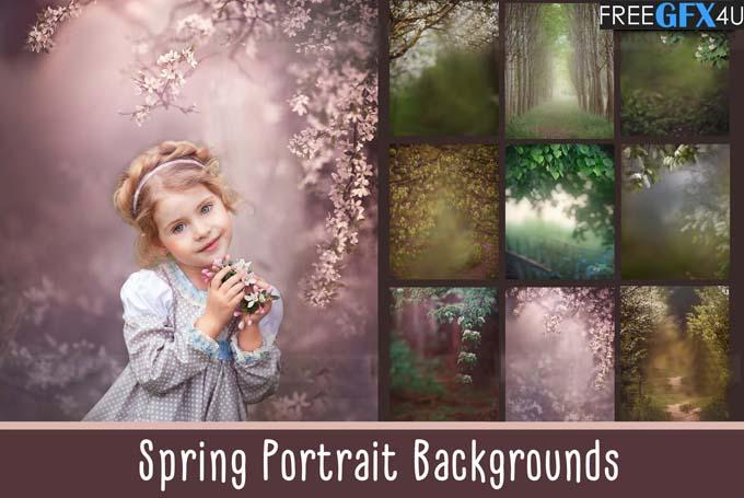 Spring Portrait Overlays & Backgrounds Pack
