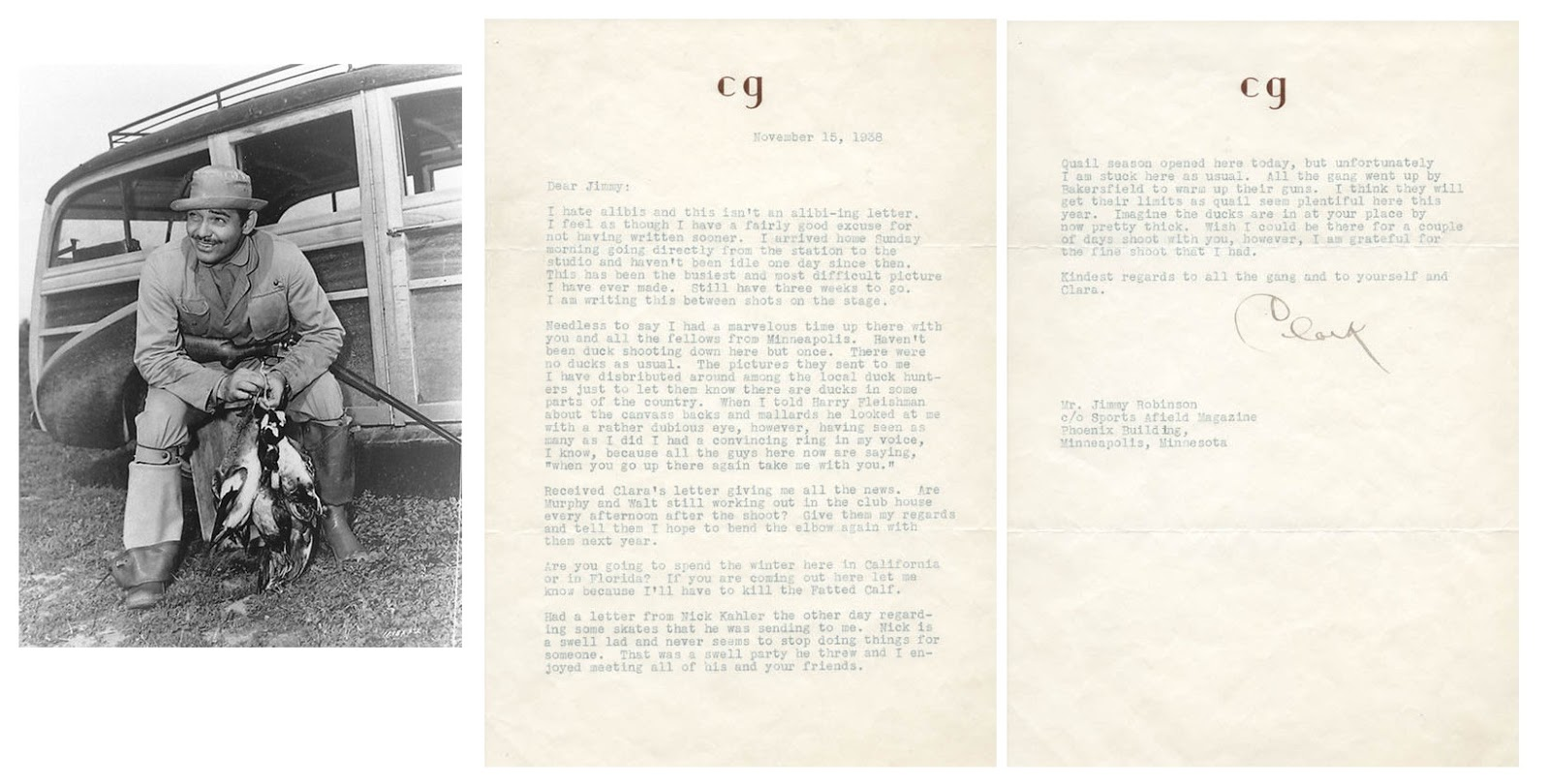 My pretty baby cried she was a bird ebay shopping vintage clark gable typed letter signed 1938 altavistaventures Images