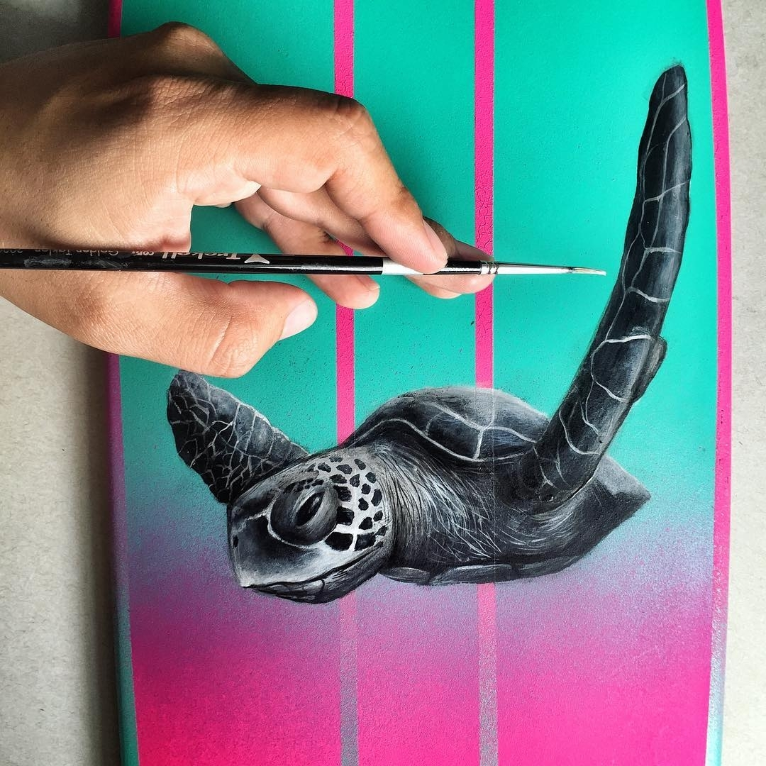 08-Sea-Turtle-Jonathan-Martinez-Art-of-the-Endangered-Paintings-and-Drawings-www-designstack-co