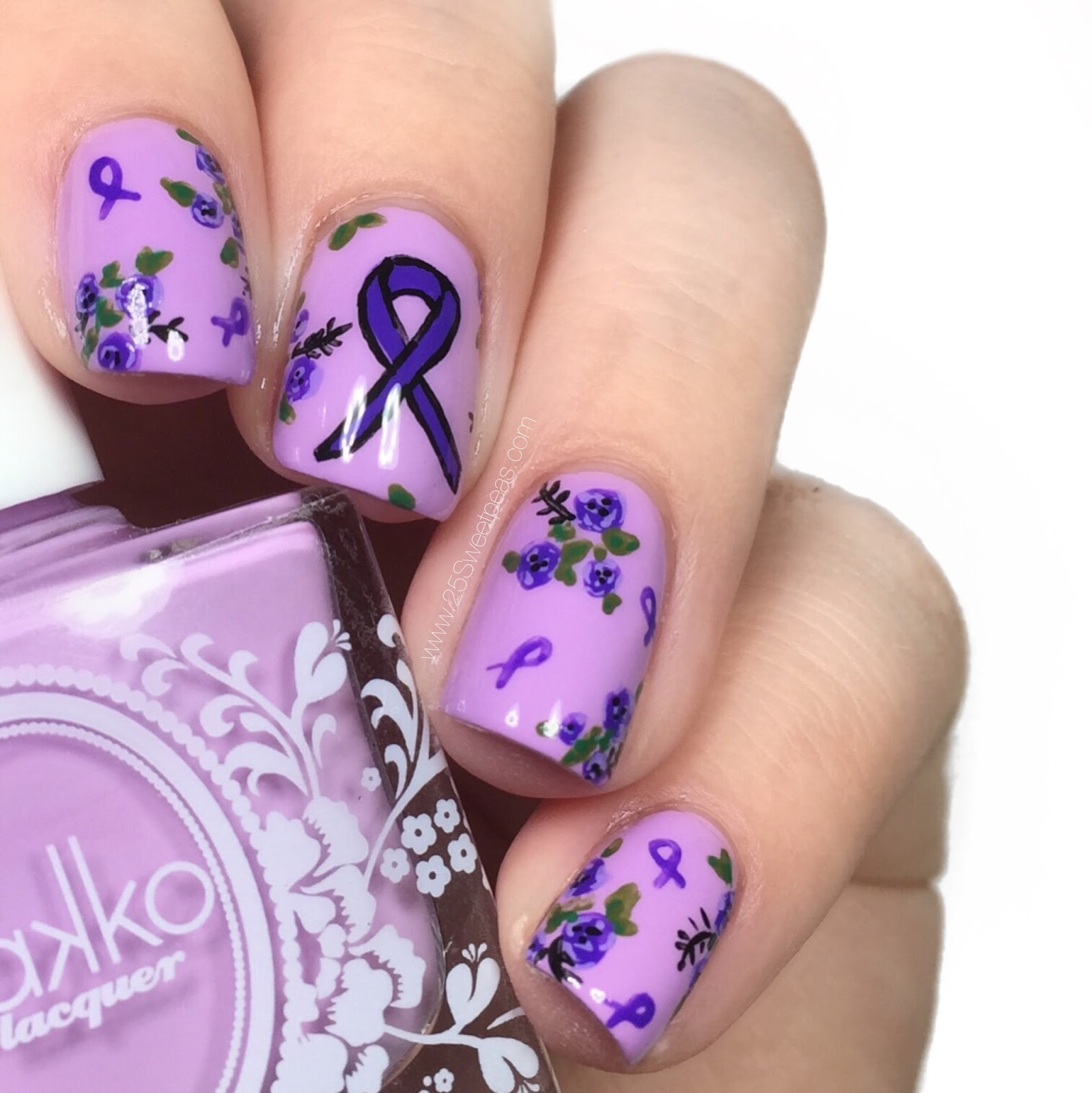 Pancreatic Cancer Awareness Nails