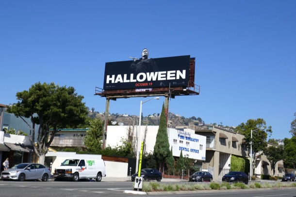 Halloween movie billboard