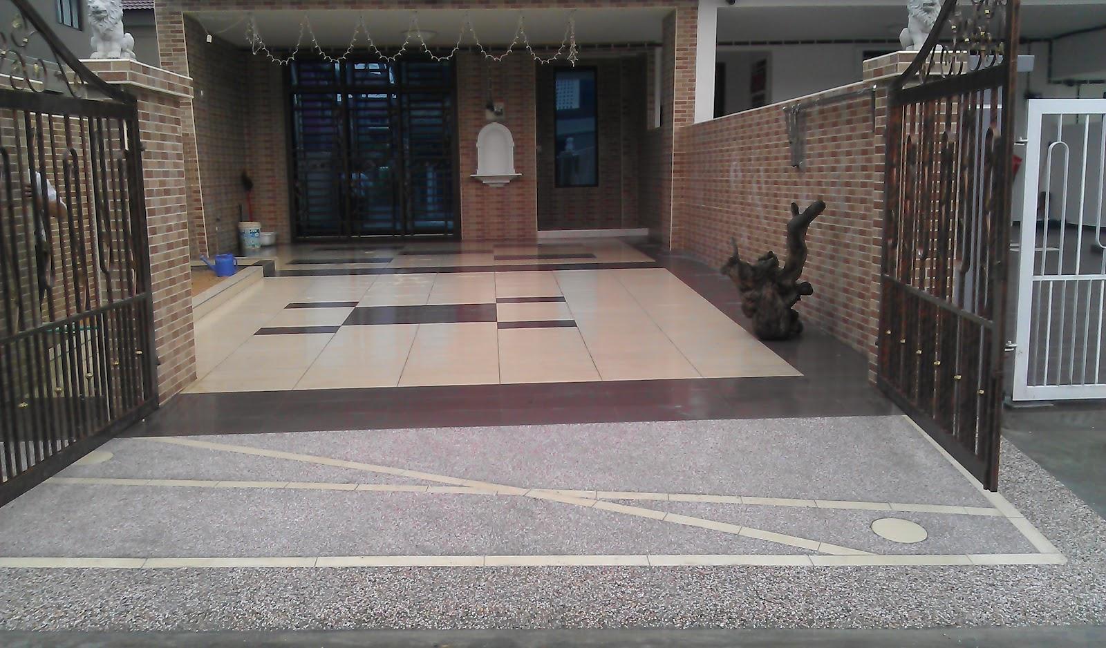 Car Porch Tiles Design Pattern Malaysia Corak Mozek Parking Kereta Desainrumahid Car Porch Mosaic Design Porches Ideas Car Porch Tiles Malaysia Studio Design Gallery Best Design Naluri Kehidupanku Rumah Idea Of
