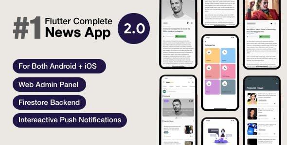 Download News Hour v3.0.4 - Flutter News App with Admin Panel