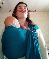 sling du barbu colimaçon portage 4 anneaux bambin côté hanche soutien