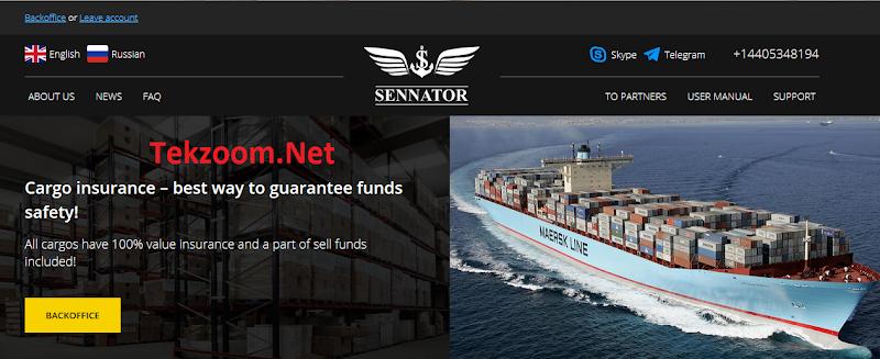 [SCAM] Review Sennator - Dự án vận tải của Mỹ - Lãi 7% hằng ngày - Thanh toán tức thì