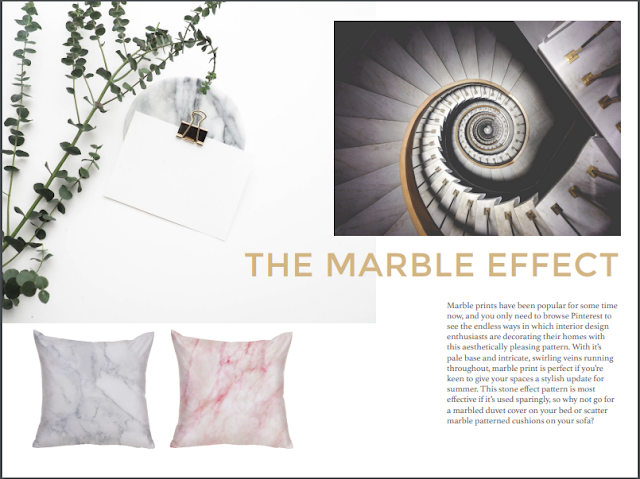 marble effect interior design trends summer 2017