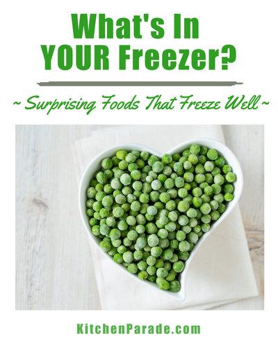 Freezer Surprises ♥ KitchenParade.com, a peek inside my freezer at surprising foods that freeze surprisingly well.