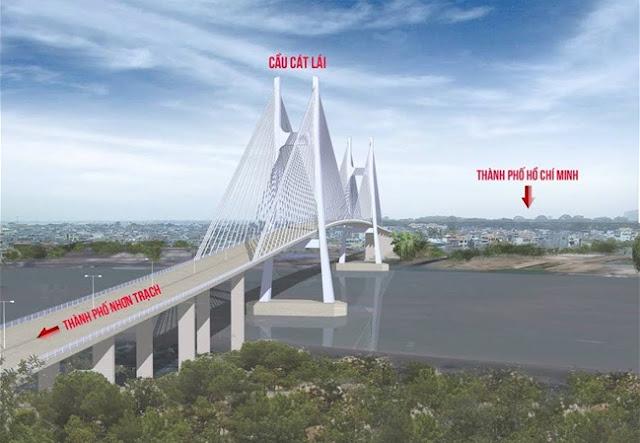 Phối cảnh Cầu Cát Lái Quận 2 Nhơn Trạch