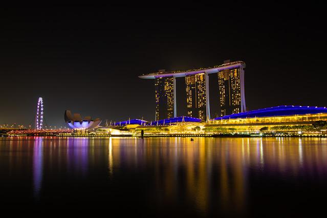 ArtScience Museum, Marina bay Sands e Singapore Flyer-Singapore