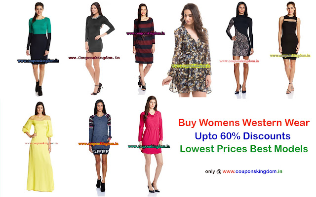 4c720b1bd30 Western Wear Dresses for Girls and Women with 60% off on top brands ...