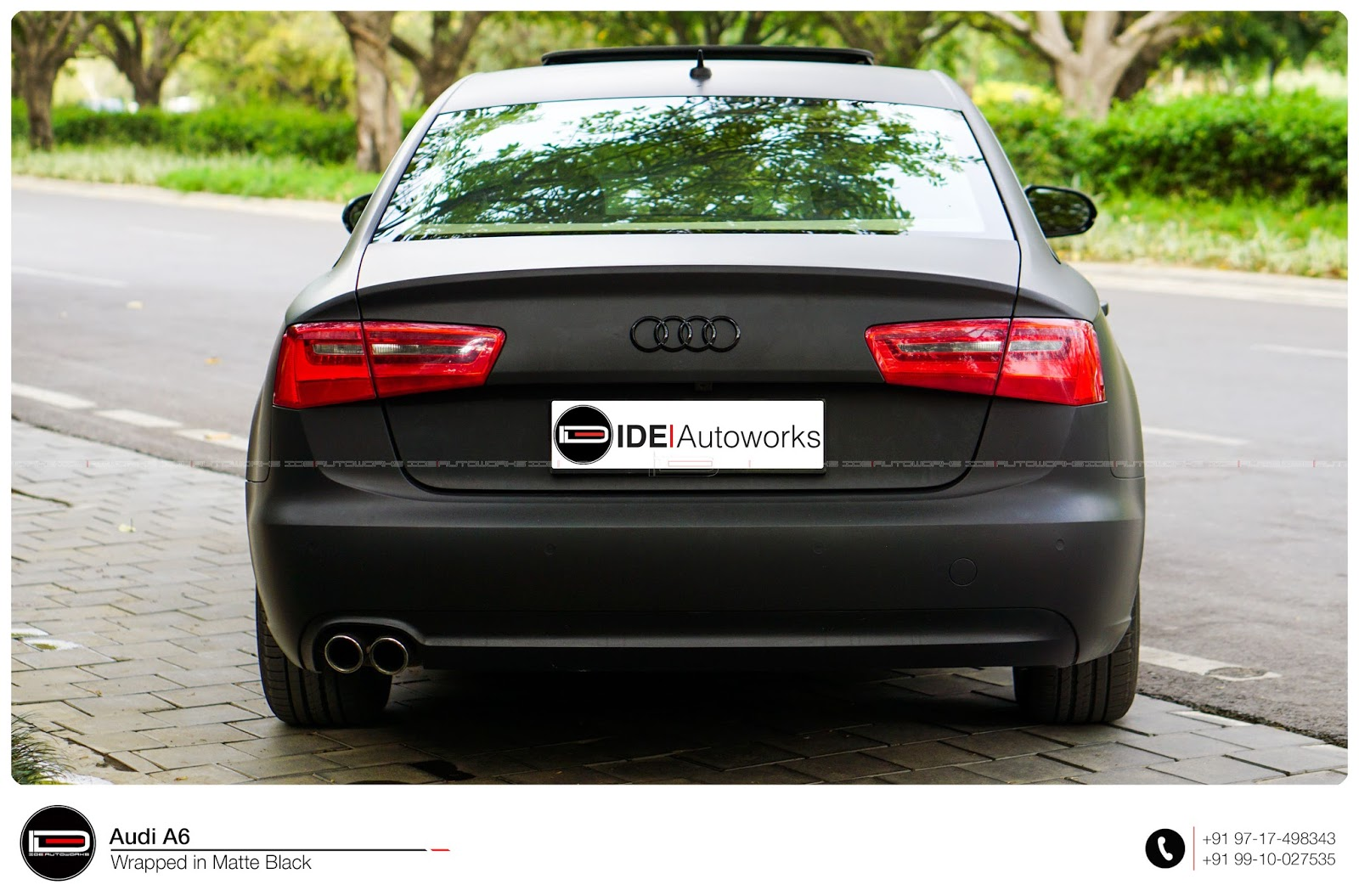 Audi A6: Matte Black Wrap | IDE Autoworks Audi A Black Satin on audi a4, audi black edition, audi tt black, mazda mazda3 black, mercedes-benz cl550 black, audi b7 black, audi q5, audi s8 black, mercedes-benz e350 black, audi s6 black, audi s5 black, honda accord sedan black, volkswagen passat tdi black, audi a7 black, audi s7 black, range rover black, audi a8, audi a3, 2016 audi rs black, audi a5,