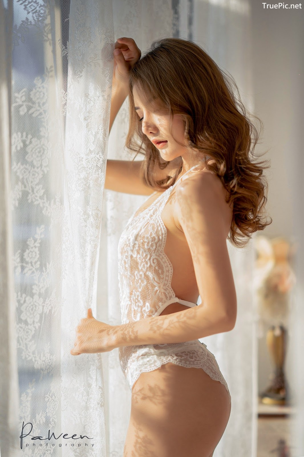 Image Thailand Model - Atittaya Chaiyasing - White Lace Lingerie - TruePic.net - Picture-21