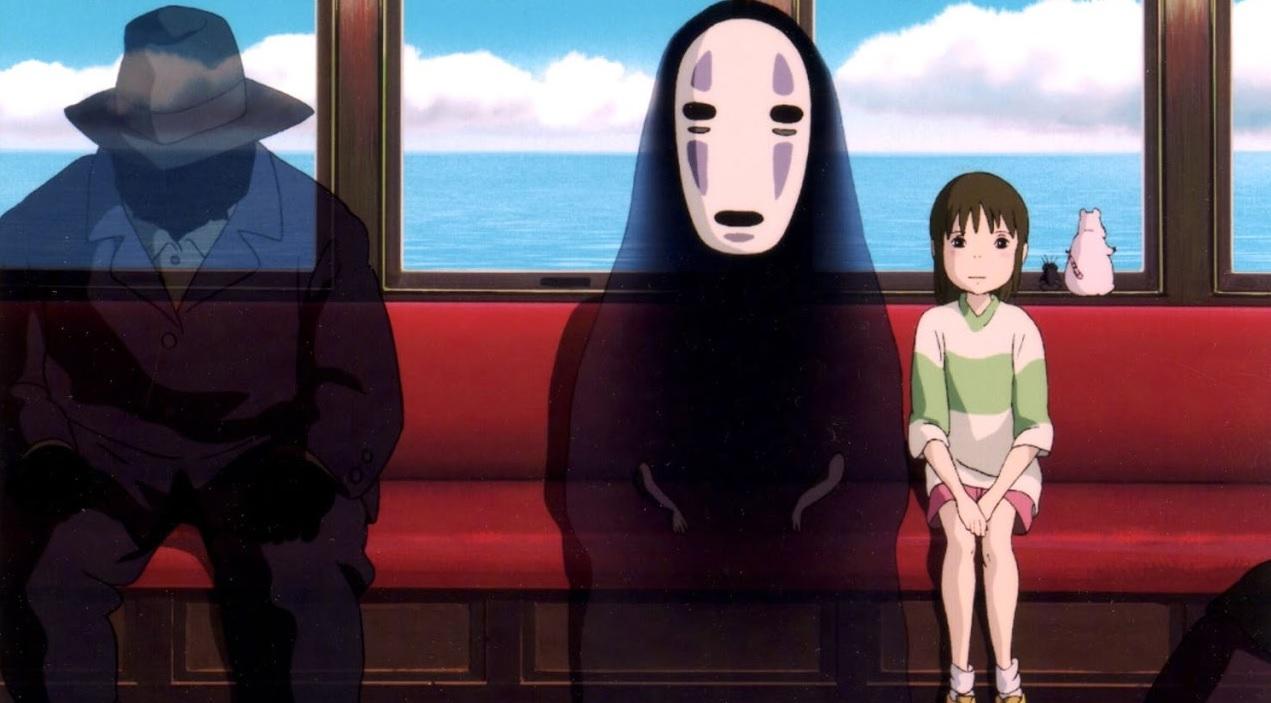 chihiro and kaonashi of Spirited Away