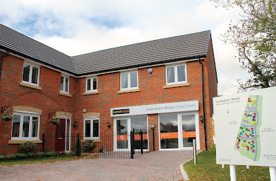 The Larkfleet Homes show home and sales centre at Collingham Brook