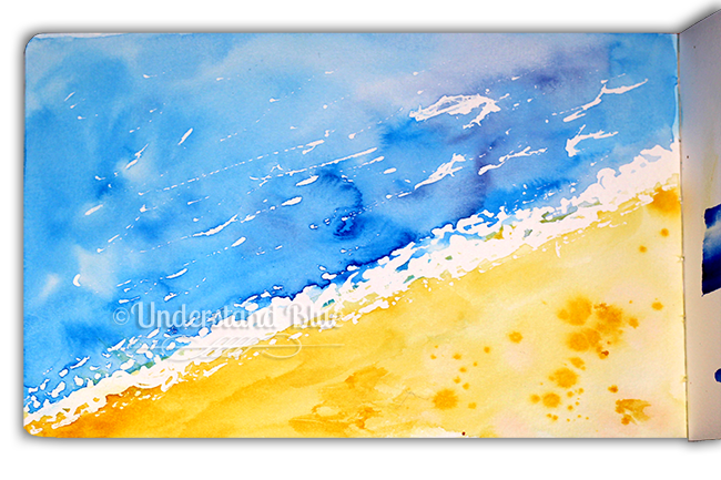 Watercolor sketchbook  - Schmincke masking fluid, Daniel Smith Watercolor by Understand Blue
