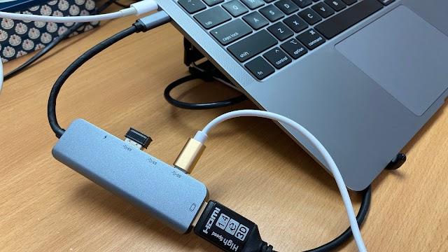 Type-c 5 合 1 連接擴充埠 一開七有齊 HDMI、Type-c、USB