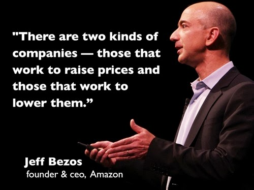 Jeff Bezos companies lower prices quote