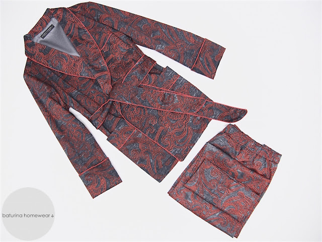 mens luxury paisley robe with pants pajama set classic warm cotton smoking jacket dressing gown for men long trousers pyjamas