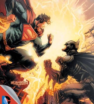 En Injustice Gods Among Us Batman y Superman pelean