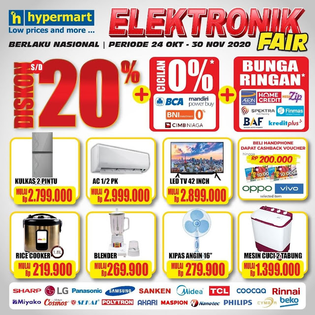 #Hypermart - #Pomo Katalog Elektronik FAIR Diskon 20% Nasional (s.d 30 Nov 2020)