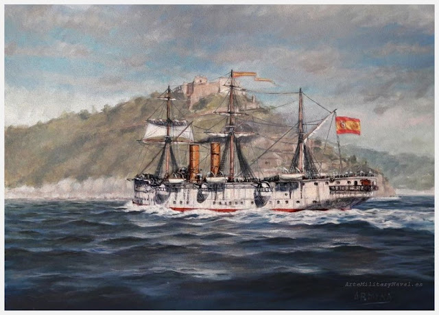Óleo del crucero Reina Mercedes