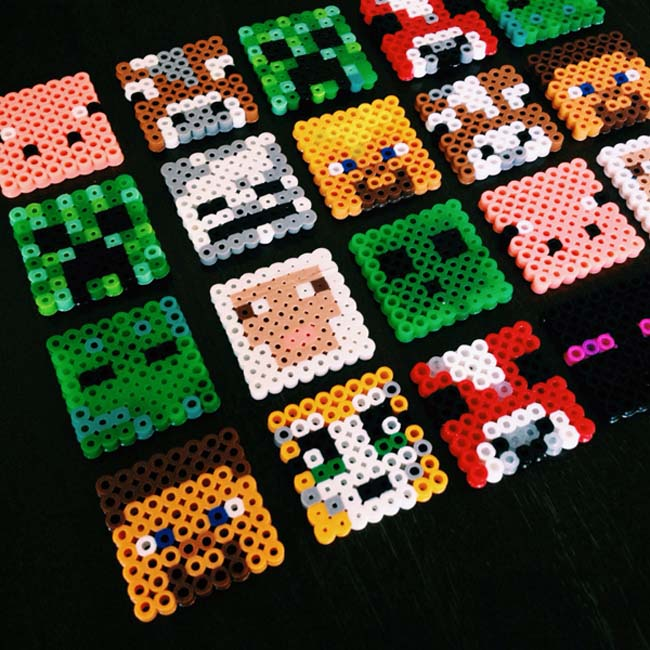 Minecraft Perler Beads Tnt - voitures-americaines info