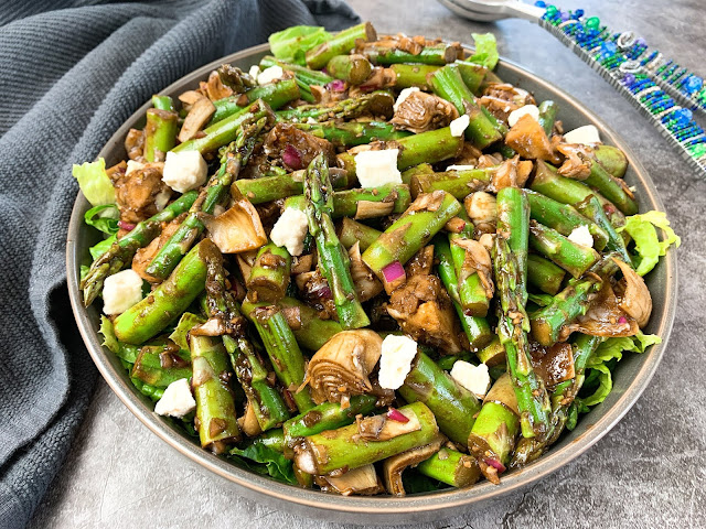 artichoke and asparagus salad
