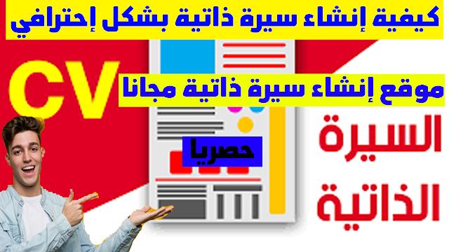 طريقة عمل سيرة الذاتية باللغة العربية للمبتدئين