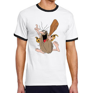 Captain Caveman Ringer T-shirt