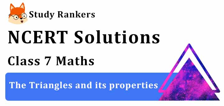 NCERT Solutions for Class 7 Maths Ch 6 The Triangles and its properties