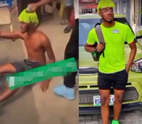 """I No Fit Kill My Mama For Money"" - Suspected Yahoo Boy Cries Out While Running Half-naked (Video)"