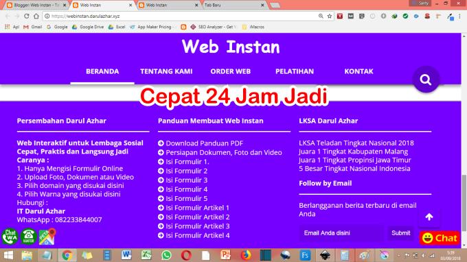 Web Instan 24 Jam jadi untuk Lembaga Sosial