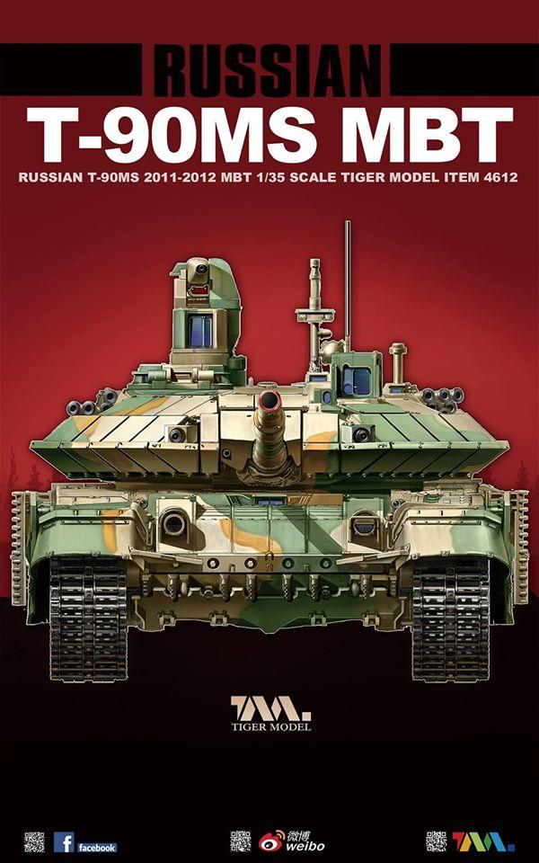 2011-2012 Tiger Model 1//35 4612  Russian T-90MS Main Battle Tank