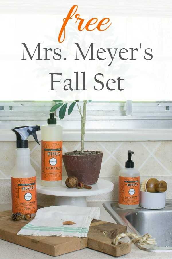 free mrs meyers fall set